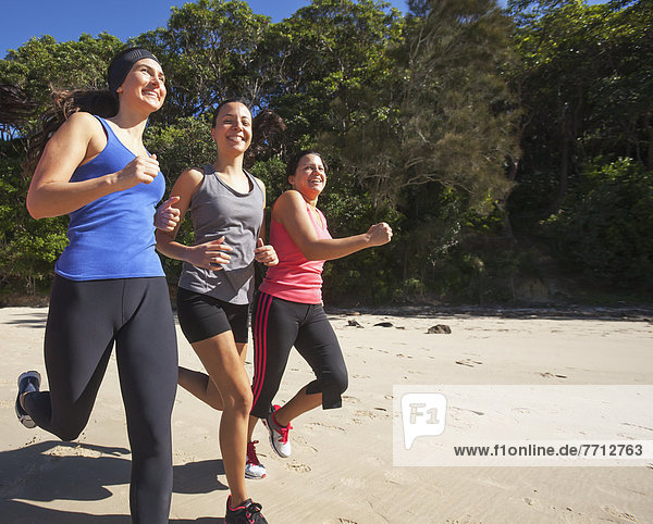 Three Women Running  Gold Coast Queensland Australia