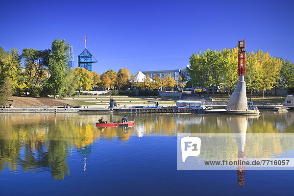 Fluss  Herbst  Gabel  Assiniboine
