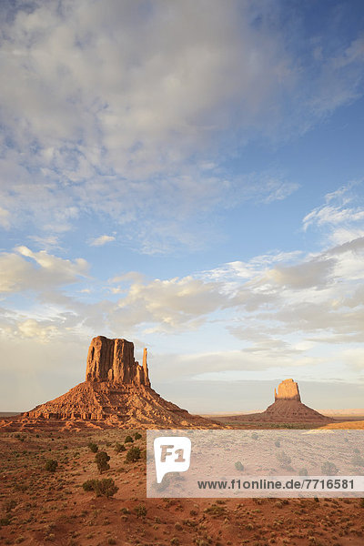 The mittens rock formation Monument valley arizona usa