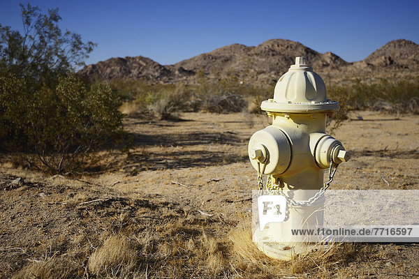Fire hydrant in the desert outside joshua tree national park California usa