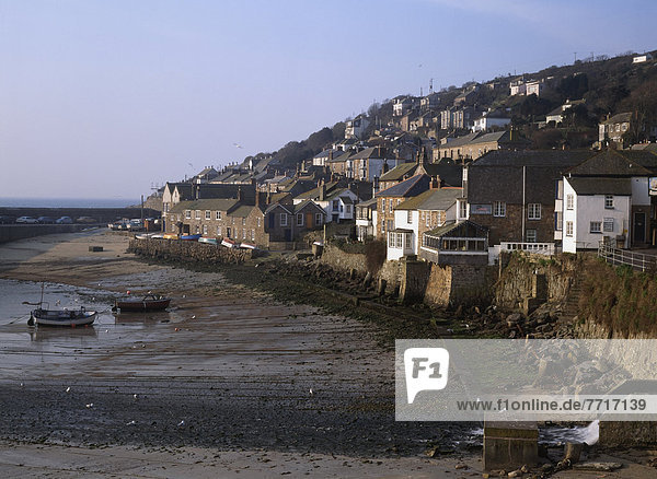 View Of Mousehole Harbor At Low-Tide