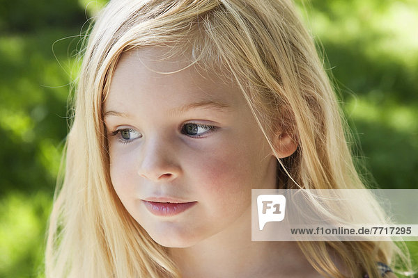 Portrait of young blonde girl Ontario canada