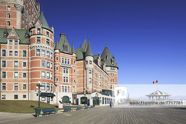 Chateau frontenac and dufferin terrace Quebec city quebec canada