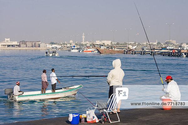 Hafen  Mensch  Menschen  angeln