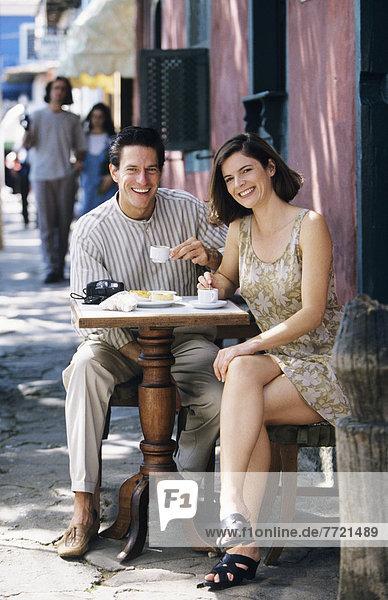 Fröhlichkeit  Weg  Hispanier  Cafe  Kaffee