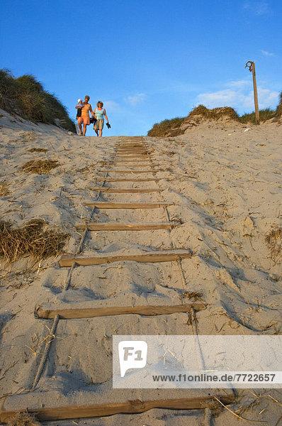 führen  Leiter  Leitern  Strand  Seil  Tau  Dänemark  Sand