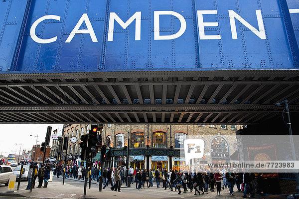 unterhalb  Stadt  Tourist  Brücke  Ansicht  Camden
