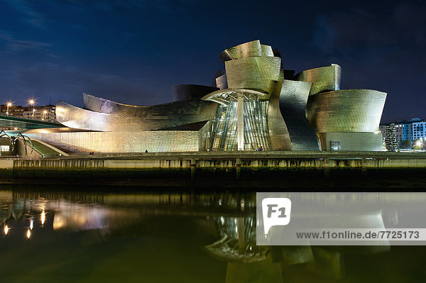 Nacht  Museum  Bilbao  Spanien