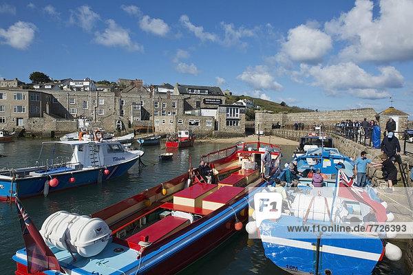 Europa Großbritannien Kai Insel Passagier Cornwall alt