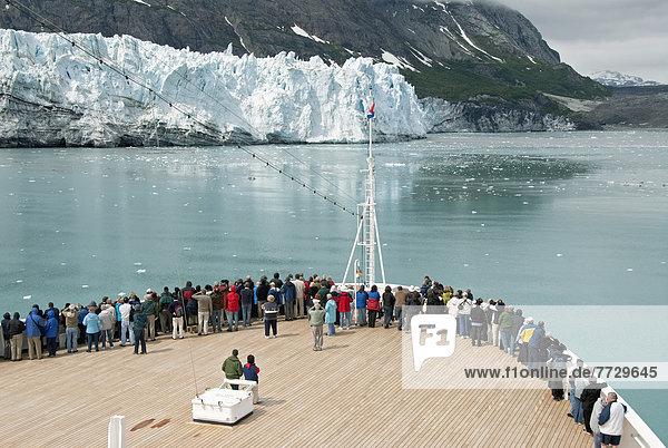 Vereinigte Staaten von Amerika  USA  sehen  Schiff  Gletscher  Passagier  Kreuzfahrtschiff  Glacier-Bay-Nationalpark  Alaska