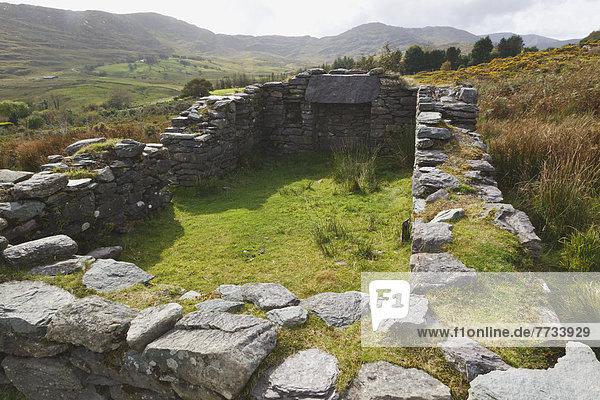 Tradition flirten Bauernhof Hof Höfe Ruine früh Beispiel Gast Kerry County Kenmare