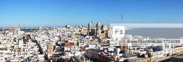 Küste  Stadt  Kathedrale  vorwärts  gekalkt  Andalusien  Cadiz  Spanien