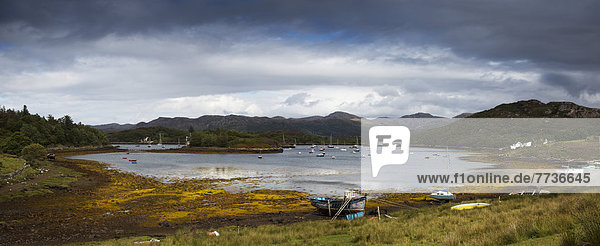 Boats Mooring In The Harbour  Kenmore Highlands Scotland