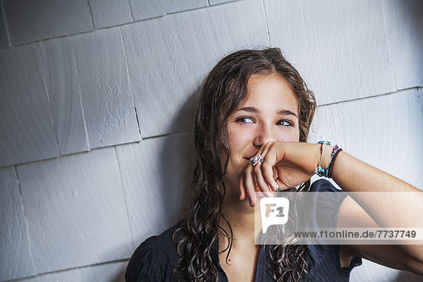 Portrait of a teenage girl Connecticut united states of america