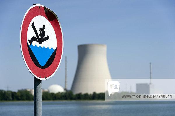 Wasser Gefahr Zeichen Warnung Signal