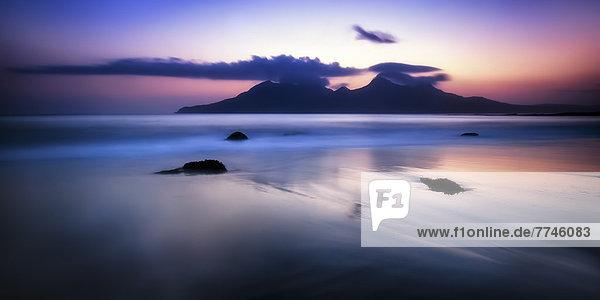 Großbritannien  Schottland  Blick auf die Isle of Rum