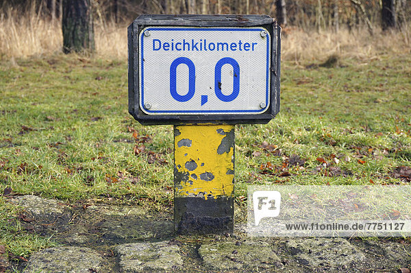 Borghorster Hauptdeich Deichkilometer 0 0