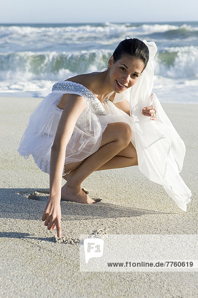 Young woman on the beach