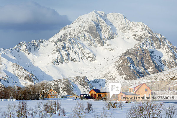 Berg Winter Gebäude Nachbarschaft
