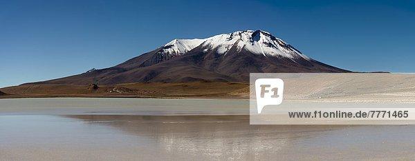 hoch  oben  Ecke  Ecken  See  Anden  Bolivien  Speisesalz  Salz  Südamerika