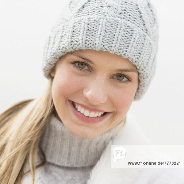 Portrait  Frau  Winter  Kleidung  jung
