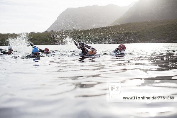 Triathleten Schwimmen