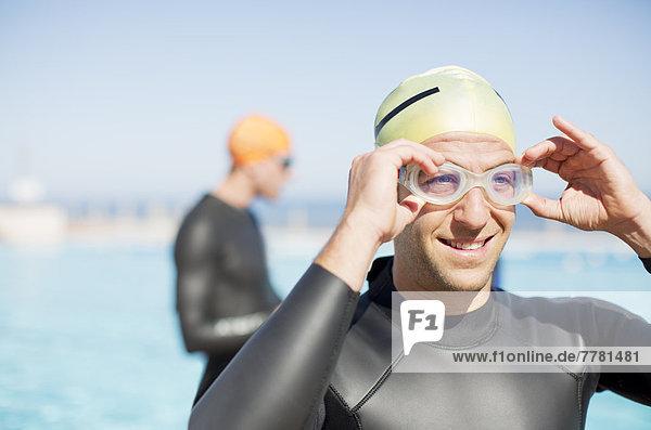Triathleten-Verstellbrille im Freien
