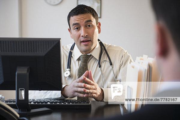 sprechen  Arzt  Büro  Kunde