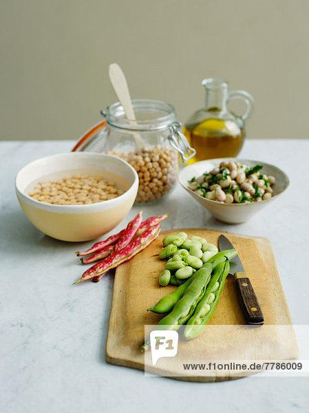 Bohnen und Hülsenfrüchte