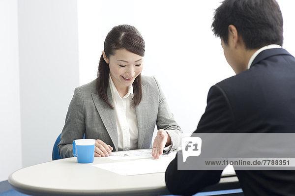 Frau  Geschäftsmann  Besuch  Treffen  trifft