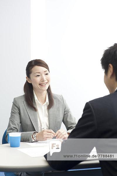 Geschäftsfrau  Besuch  Treffen  trifft