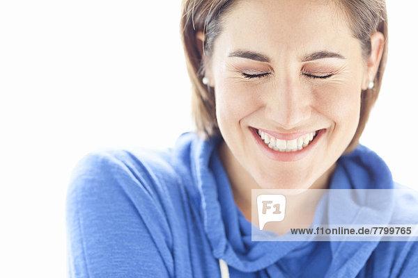 Portrait , Frau , Menschliche Schulter,  Schultern , Kleidung , Studioaufnahme , Kapuzenjacke