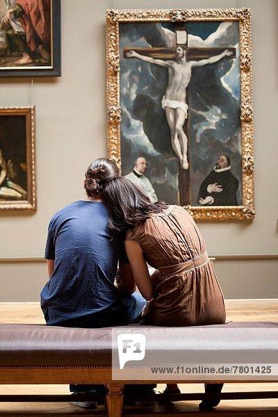 Paris  Hauptstadt  Frankreich  sehen  Museum  jung  Gemälde  Bild  Louvre