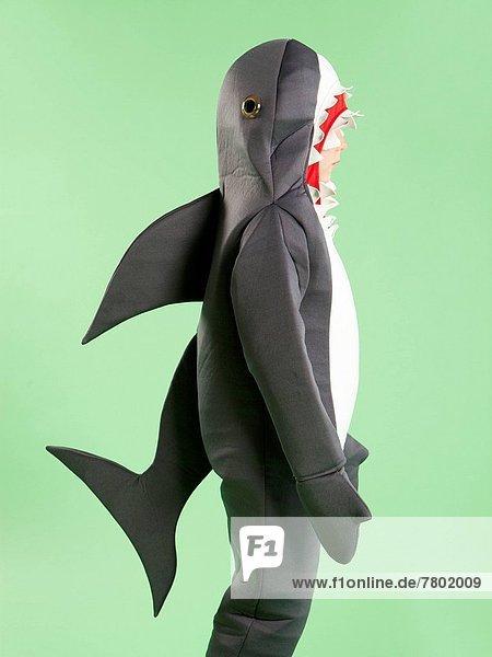 Junge - Person  5-9 Jahre  5 bis 9 Jahre  Kostüm - Faschingskostüm  Halloween  Hai