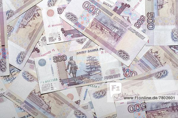 Banknoten  500 russische Rubel