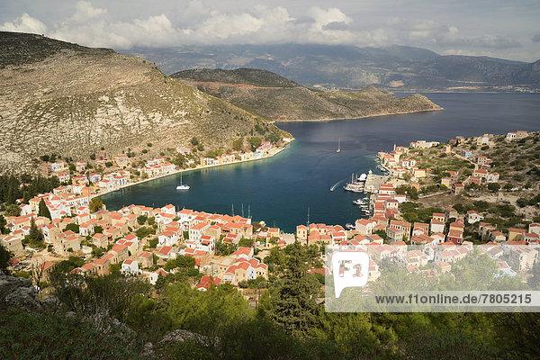 Das Dorf Castellorizo mit Bucht