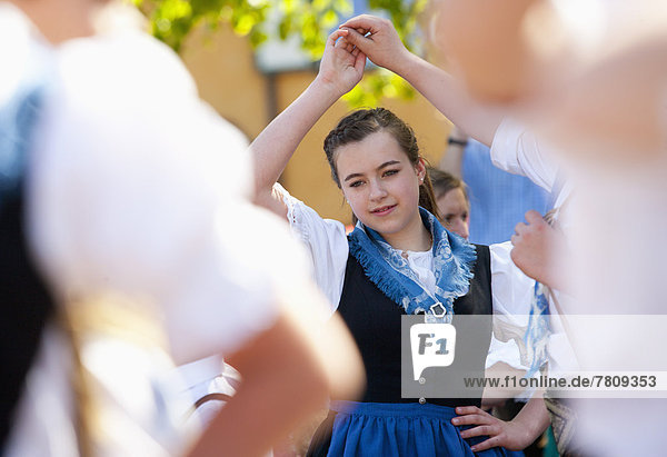 Austria  People dancing in tradtional clothing