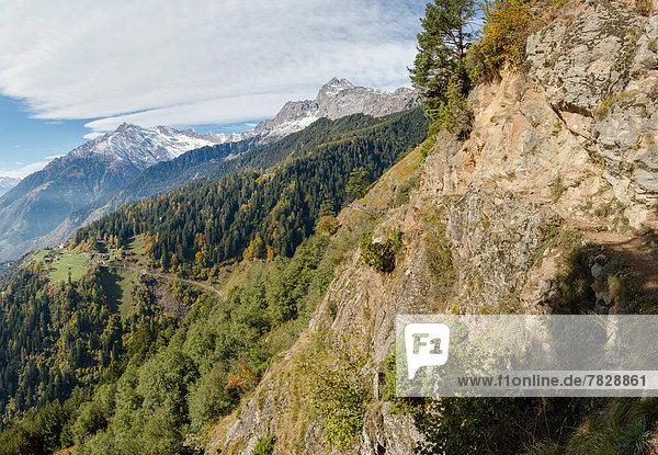 Trentino Südtirol  Europa  Berg  Landschaft  Hügel  Herbst  Italien