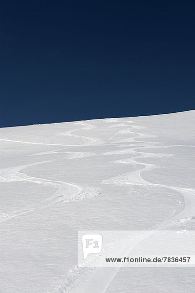 Pisten in den Dolomiten  Südtirol  Italien