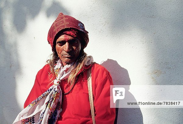 Traditional healer belonging to the Bhil tribe. Rajasthan  India.