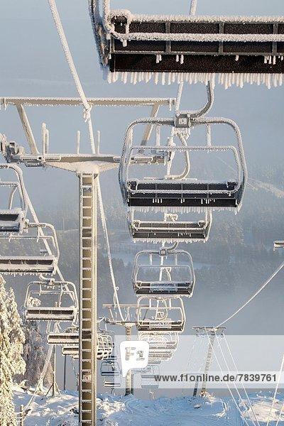 Urlaub , Ski , Kälte , Skilift