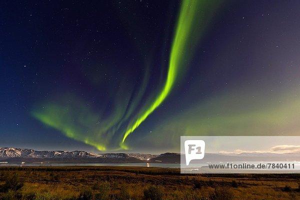 über  Bauernhof  Hof  Höfe  Polarlicht  Aurora