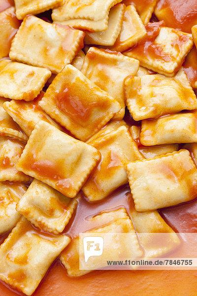 Filled ravioli  close up Filled ravioli, close up