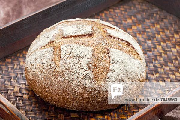 Tablett mit toskanischem Brot  Nahaufnahme