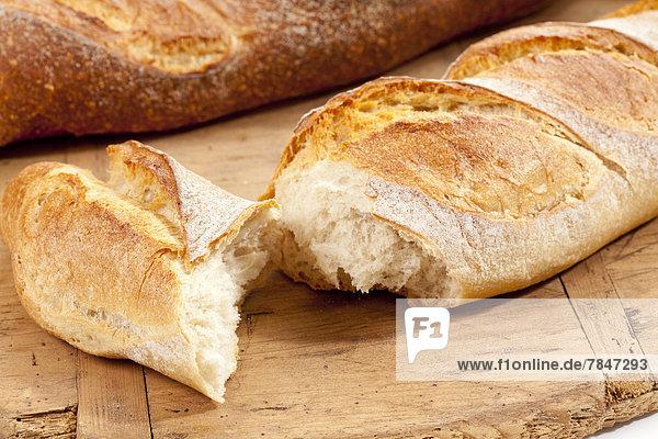 Baguette-Brote  Nahaufnahme