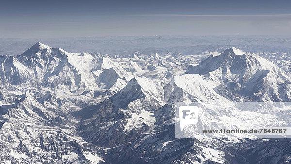 Luftaufnahme des Himalaya