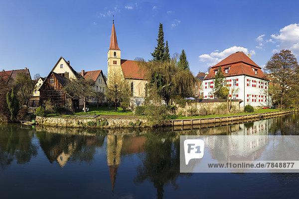 Deutschland  Bayern  Blick auf die Marienkirche an der Pegnitz