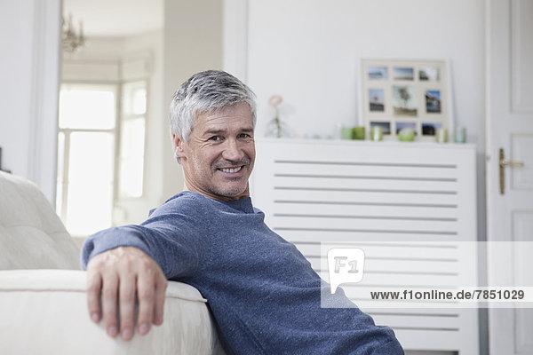Germany  Bavaria  Munich  Portrait of mature man  smiling