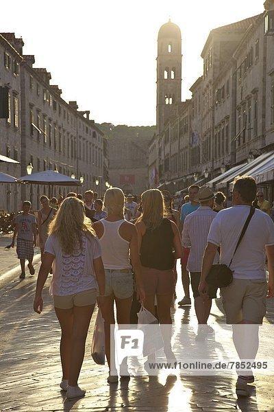 Stradun  Old City  UNESCO World Heritage Site  Dubrovnik  Croatia  Europe
