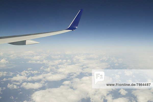 Luftaufnahme an Bord eines Passagierflugzeugs